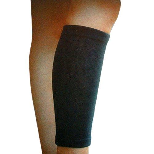 Black Elastic Support Calf Shin Sleeve Protector Brace