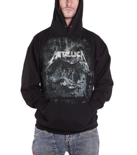 Metallica decadimento da uomo con logo ufficiale nero felpa con cappuccio