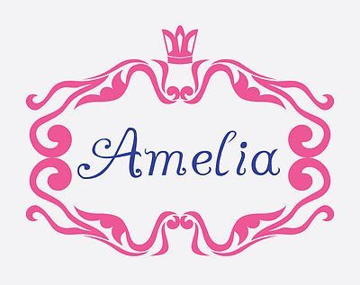 Baby Girls Name Border Nursery Name Decal Personalized Children'S Decal Am025
