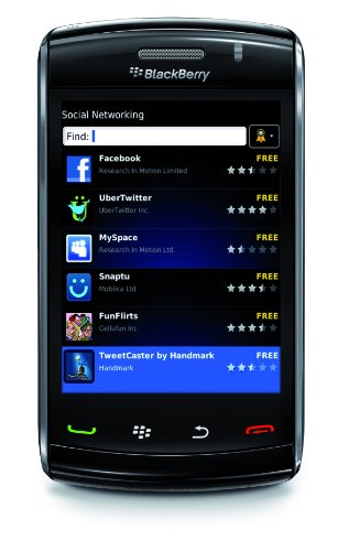 BlackBerry RCK71CW 9550 Unlocked Phone with Wi-Fi, Touch Screen, 3.2MP Camera and GPS - Unlocked Phone - US Warranty - Black