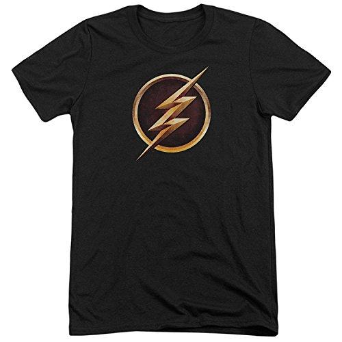 The Flash Bolt Logo CW's TV Series The Flash TV Show Adult Mens Unisex T-Shirt Black(XXX-Large)