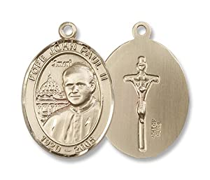 14kt Gold Pope John Paul II Medal