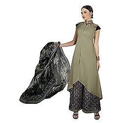 Aagaman Fashion Blended Cotton Unstitched Salwar Suit (TSVDRBSK10206_Green)