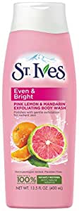 St. Ives St. Ives Even and Bright Pink Lemon and Mandarin Orange Body Wash 13.5 Fluid Ounce