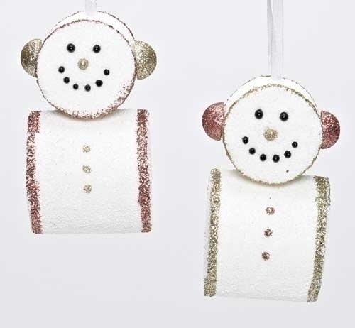 Marshmallow Snowmen Christmas Ornaments