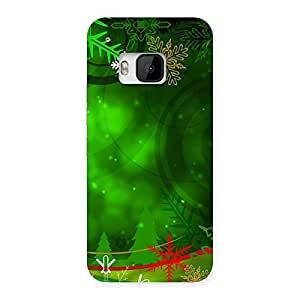 Delighted Chrismas Decor Back Case Cover for HTC One M9