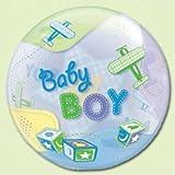 "Baby Boy Airplane - 22"" Bubble Balloon [Toy]"