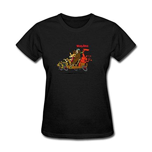 JuDian Wacky Races Cartoon T shirt For Women