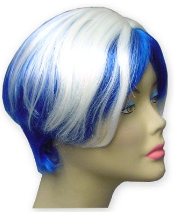 Blue / White Two Tone Wig