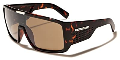 Mens 2013 Biohazard Oversized Sports Shield Goggle Style Sunglasses - Perfect biking, skiing, fishing - Several Colors Available!