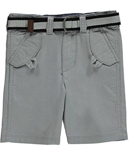"Sean John Big Boys' ""Herringbone Twill"" Belted Shorts - light gray, 16"