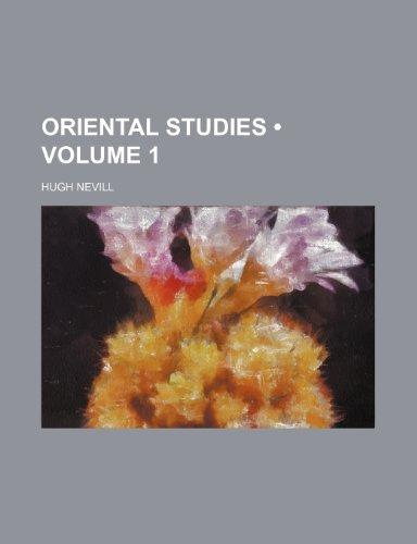 Oriental Studies (Volume 1)