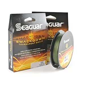 Seaguar smackdown braided fishing line green for 50 lb braided fishing line