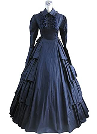 AvaLolita Long Sleeve Floor Length Vintage Towering Gothic Victorian Dress