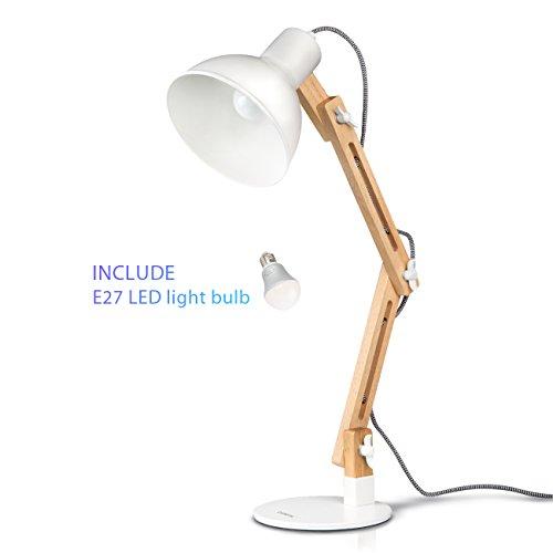 Tomons-Leselampe-im-klassichen-Holz-Design-Schreibtischlampe-Tischleuchte-verstellbare-Schreibtischlampe-Lampe-mit-verstellbarem-Arm-Augenfreundliche-Leselampe-Arbeitsleuchte-Brolampe-Nachttischlampe-