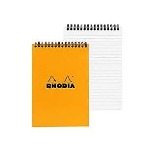Rhodia Wirebound Lined Orange Notepads 6 X 8 ¼