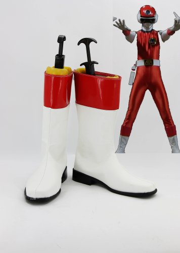 CoSmile power rangers Flash Star Red Flash Cosplay Costume Halloween Shoes Boots