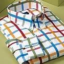 Trim Fit Wrinkle \ Stain Resistant Windowpane Sport Shirt