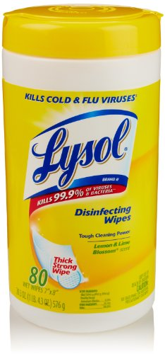 Lysol Disinfecting Wipes, Lemon & Lime Blossom Scent, 80 Count