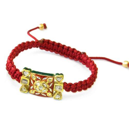 22kt Solid Yellow Gold Diamond Macrame Bracelet