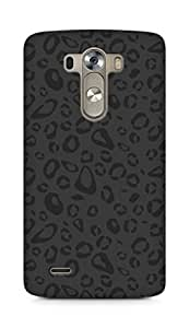 Amez designer printed 3d premium high quality back case cover for LG G3 (black and grey leopard print)