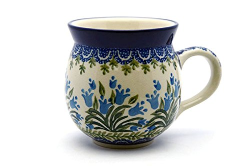 Polish Pottery Mug - 11 oz. Bubble - Blue Bells