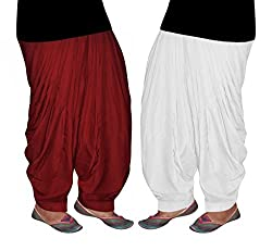 Bansal Collection Crepe Patialas(Pack of 2 )