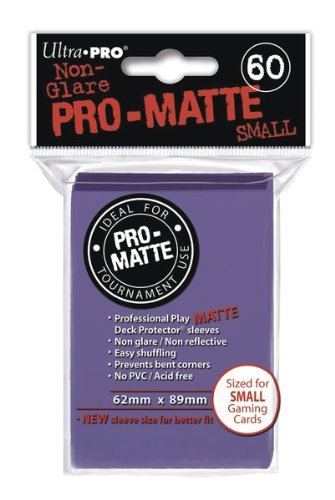 Ultra-Pro Pro-Matte Sleeves - Purple, Small - for Yu-Gi-Oh, Cardfight/CFVG (60 Deck Protectors)