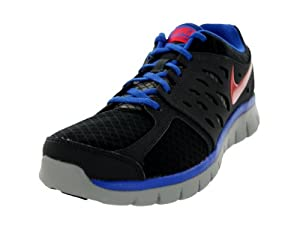 Nike Men's Flex 2013 RN Black/Lt Crmsn/Anthrct/Gm Ryl Running Shoe 9.5 Men US