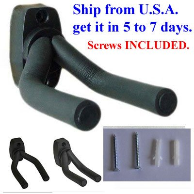 Guitar Hanger Hook Holder Wall Mount Display - Fits all size Guitars, Bass, Mandolin, Banjo, etc.