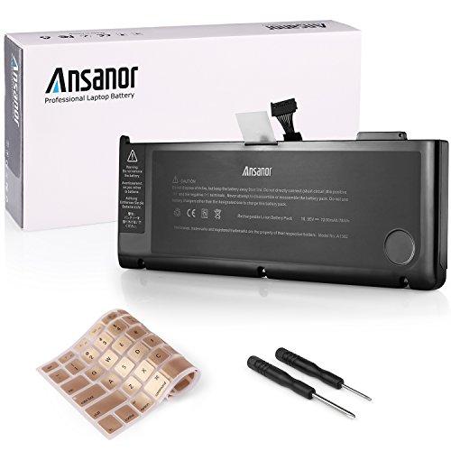 """Ansanor Di alta qualità sostituzione della Batteria del computer portatile per Apple MacBook Pro 15"""" A1382 A1286 Core i7 (Early 2011 Late 2011 Mid 2012) + copertura della tastiera (garanzia di 24 mesi 10.95V 7200mAh) A1382"""