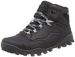 Merrell Men\'s Fraxion Shell 6 Winter Hiking Boot, Black, 9.5 M US