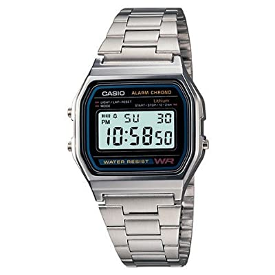 Men's Casio Digital Bracelet Watch - Silver A158W-1 TRG