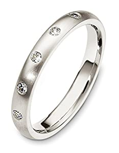 Mens Platinum, Modern Anniversary 3MM Wedding Band, 1/10 cttw