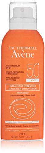 Eau Thermale Avène Ultra-Light SPF 50 Plus Hydrating Sunscreen Lotion Spray, 5 oz.