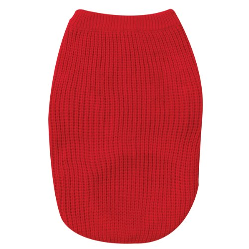 See Zack & Zoey Shaker Knit Sweater Med Red