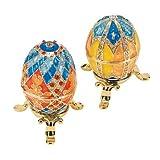 Design Toscano FH91915 Grand Duchess 2-Piece Georgievna and Nikolaevna Enameled Egg Set