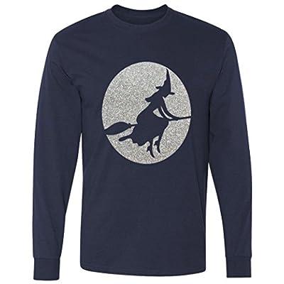 Witch Glitter Halloween long sleeve T-Shirt