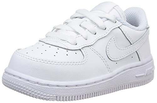 Nike Toddlers Force 1 (TD) White/White/White Basketball Shoe 10 Infants US