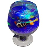 Atorakushon Smokeless Decorative Wine Gel Glass Designer Led Multi Color Light Changing Candles For Diwali Birthday...