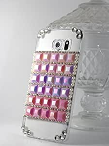Samsung Galaxy Note 7 Handcrafted Designer Bling 3D Pink Cubes Acrylic Case by Kiintymys