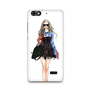 Mobicture girl Premium Designer Mobile Back Case Cover For Huawei Honor 4C