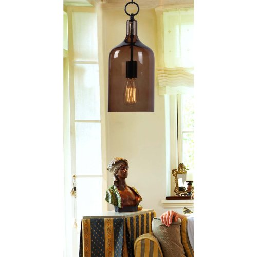Kenroy Home 91831AMB Capri 1-Light Mini Pendant, Oil Rubbed Bronze