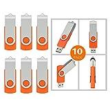 10pcs Usb Flash Drive 10pcs 4GB 4G Usb 2.0 Flash Drive Memory Stick Fold Storage Thumb Stick Pen Swivel Design...