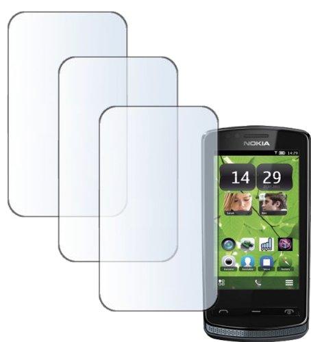 MaryCom XF-CLEAN 3 x Displayschutzfolie für NOKIA 700 Smartphone / F 700