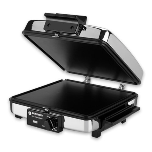 Black and Decker Compact NONSTICK 3-In-1 Indoor Grill/Griddler & Waffle Maker with Chrome Housing and Stay-Cool Handles (Black And Decker Electric Skillet compare prices)