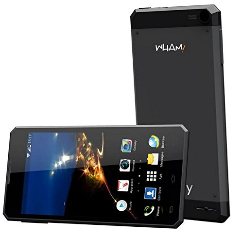 Wham 3G Ultra Slim Sealed Metal Body 4 inch Android Mobile Phone - W1 Black Colour