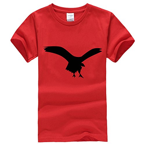 Flying people feel short sleeve T shirt x-large red