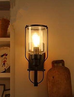 American Retro Iron Glass Wall Lamp Wall Lamp