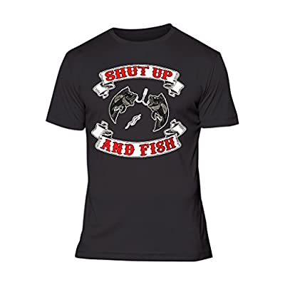 Fresh Tees® Shut Up and Fish Funny Fishing Shirts